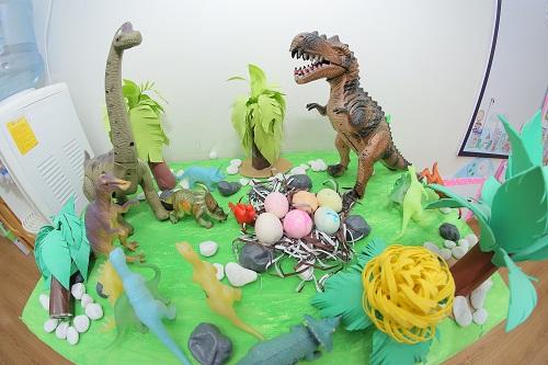 thí nghiệm trứng khủng long