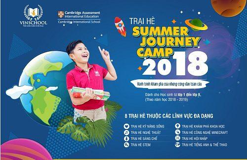 """Thông báo Trại hè """"Summer Journey Camp"""" 2018 của Vinschool"""