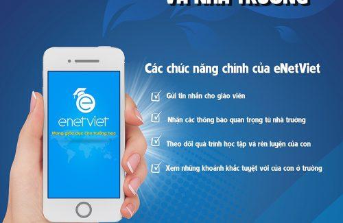 Thông báo v/v sử dụng eNetViet dành cho Phụ huynh
