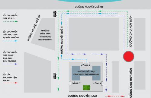 Thông báo v/v: Phối hợp giao thông tại Trường Tiểu học Vinschool The Harmony