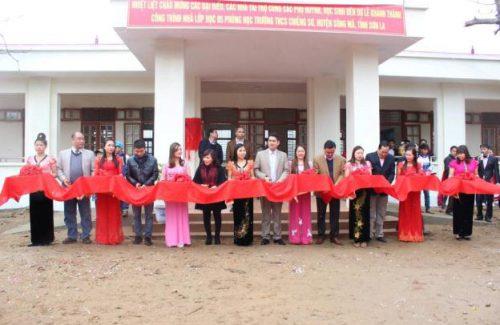 Khánh thành 5 phòng học tại Chiềng Sơ – Thành quả tuyệt vời của Edurun 2015