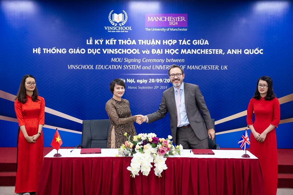 Vinschool ký kết thỏa thuận hợp tác với Trường Đại học Manchester – Anh Quốc