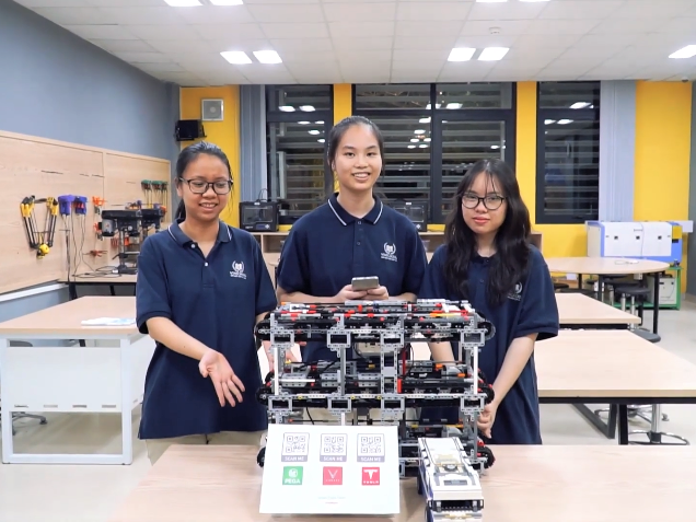 Air pollution-tackling robot model earns Vinsers double win at World Robot Olympiad